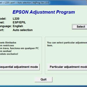 Epson L220 Adjustment Program Download